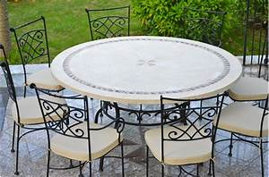 Table De Jardin Ronde : imhotep grande table ronde diam tre 160 125cm mosa que emperador living 39 roc ~ Teatrodelosmanantiales.com Idées de Décoration