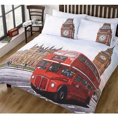 London Bedding Single Duvet Cover Sets City Landmarks Big
