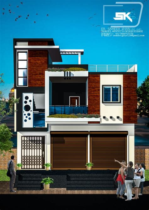 introducing Modern house trending exterior elevation with