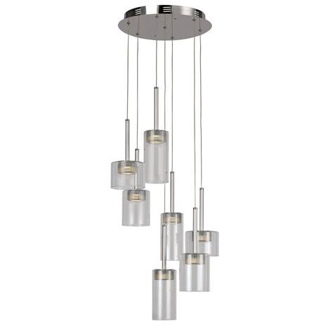 led glass pendant lights transglobe 7 light polished chrome interior led pendant