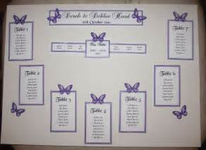 wedding table plan personalised a3 a2 wedding seating plan table plan butterflies many colours