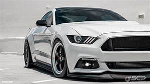 White Supercharged Ford Mustang GT S550 - Forgestar D5 Beadlock Wheels