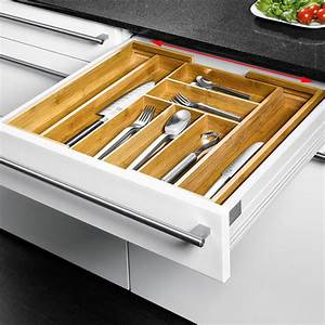 Besteckeinsatz Schublade 50 Cm : ausziehbarer besteckeinsatz aus bambusholz online kaufen ~ Watch28wear.com Haus und Dekorationen