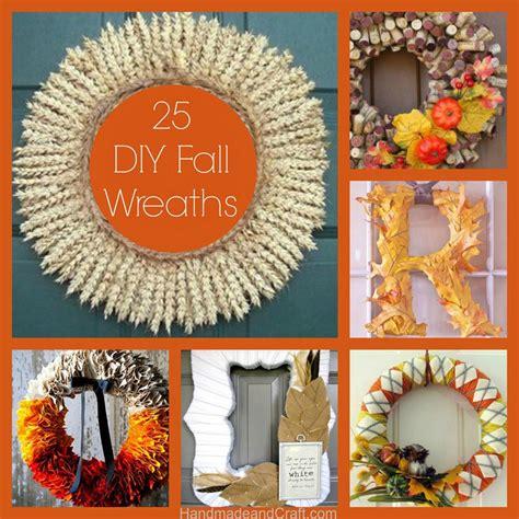 diy fall ideas 25 fall wreaths diy decor