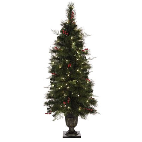 home accents holiday 32 in pre lit snowy artificial tree