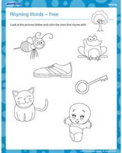 Morning Star Nursery by Rhyming Words Tree Free Reading Kindergarten Worksheet