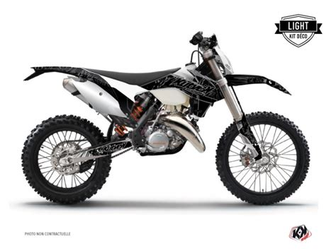 ktm exc excf dirt bike zombies dark graphic kit black