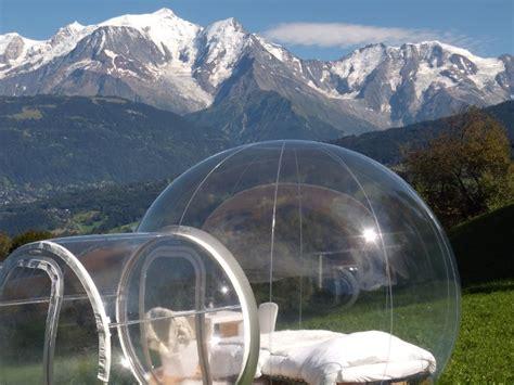 chambre bulle dans la nature une nuit insolite dans la bulle quot nuit nature quot savoie