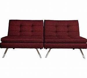 buy home duo 2 seater fabric clic clac sofa bed red at With duo sofa bed
