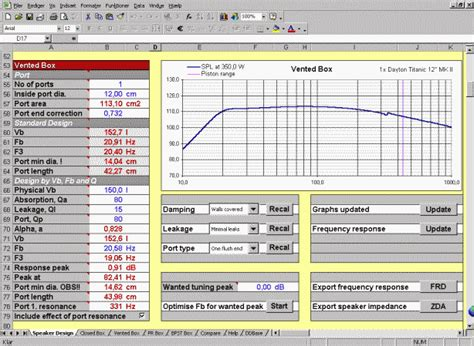 Speaker Box Calculator Online