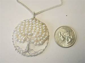 Hand Crafted Pearl Tree Of Life Pendant - Necklace
