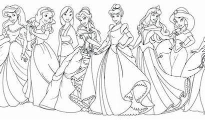Disney Coloring Princess Princesses Pages Princes Drawing