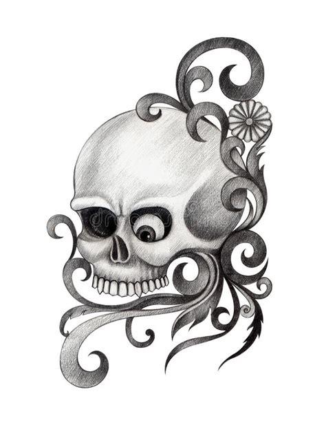 Skull Art Tattoo Stock Illustration