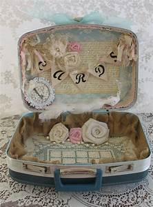 vintage suitcase wedding card box wedding card holder shabby With wedding cards box type