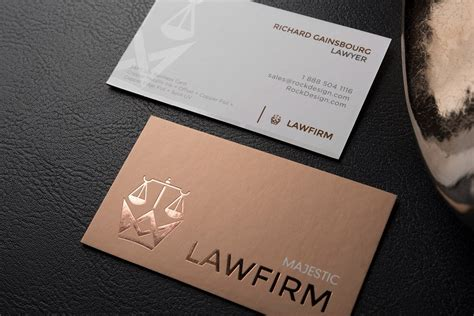 double sided  card design template  spot uv majestic law firm