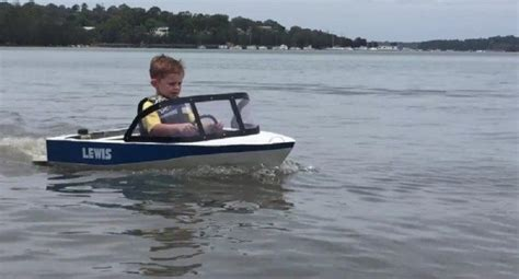 Kids Boat Lewis by Mini Boater Enjoys The Tiniest Functioning Motorboat Ever