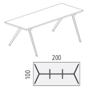 tischplatte glas 200 x 100 actiu arkitek scheibtisch rechteckig mit tischplatte aus