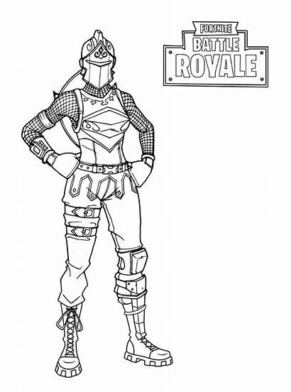 Coloring Pages Fortnite Knight Royale Skins Cuddle