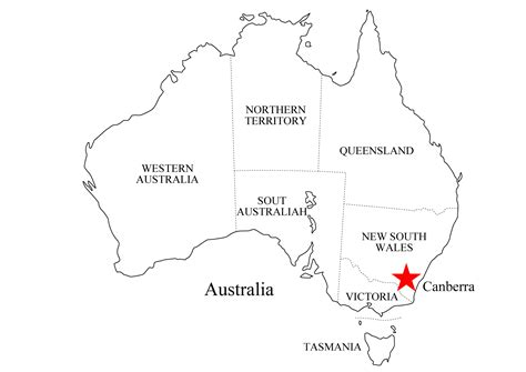 Australien Landkarten kostenlos Cliparts kostenlos
