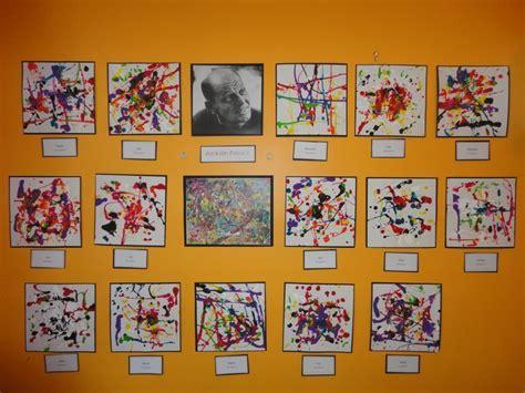 jackson pollock for preschoolers pollock inspired 862 | 8cd786ab4b26f1ea9680ae2955af06ea kindergarten art preschool art exhibit
