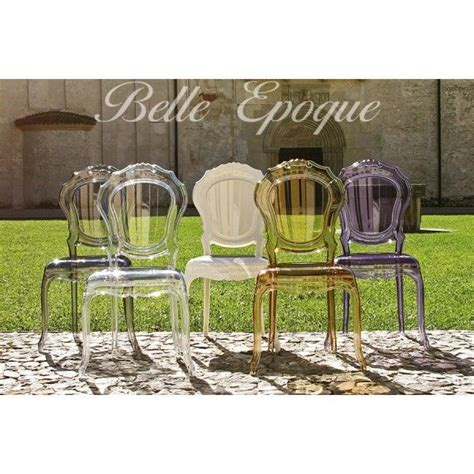 chaise tendance chaise design dal segno epoque transparente x 2