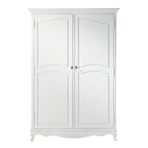 armoire en bois de paulownia blanche l 130 cm jos 233 phine