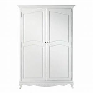 Maison Du Monde Armoire : armoire en bois de paulownia blanche l 130 cm jos phine ~ Melissatoandfro.com Idées de Décoration