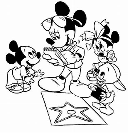 Mickey Mouse Coloring Minnie Clubhouse Pages Donald