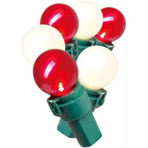 holiday time lite lock led pearl ized glass g15 christmas