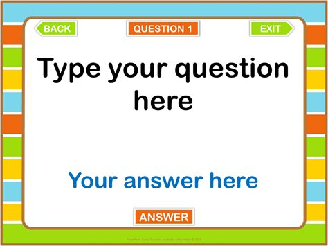 powerpoint game templates commercial   question
