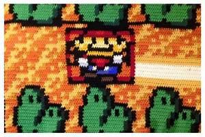Man Spent 6 Years Crocheting Super Mario Blanket