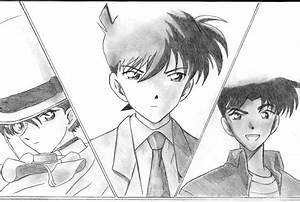 Shinichi, Kaito Kid and Heiji by ForeverManga on DeviantArt