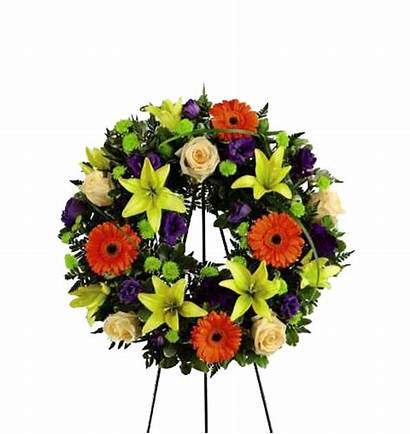 Wreath Remembrance Radiant Ftd Funeral Flores Radiante