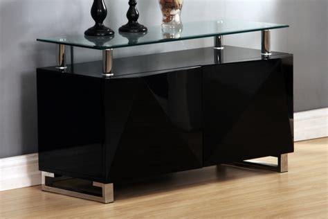 High Gloss Sideboards Uk by Black High Gloss Sideboard Homegenies