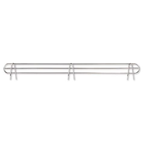 wire shelving back support 48 quot wide silver 2 supports