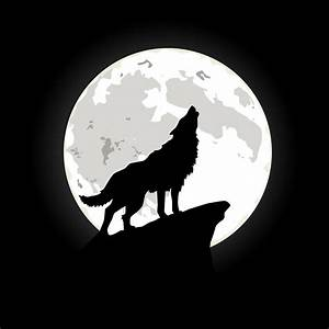 """""""Wolf howling at the moon"""" by storeadv 