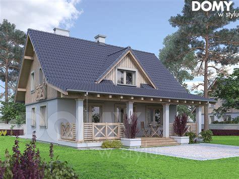 Malinowy projekt domu DOMY w Stylu Cottage house plans