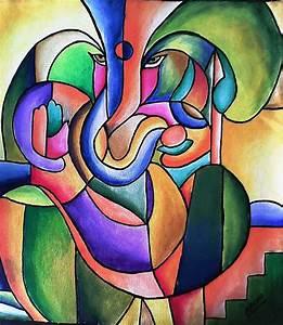 Abstract Ganesha Painting - YouTube