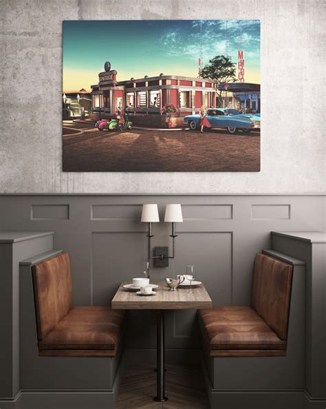 These will be awesome for branding, websites, banners etc. Restaurant Poster/Painting Mockup