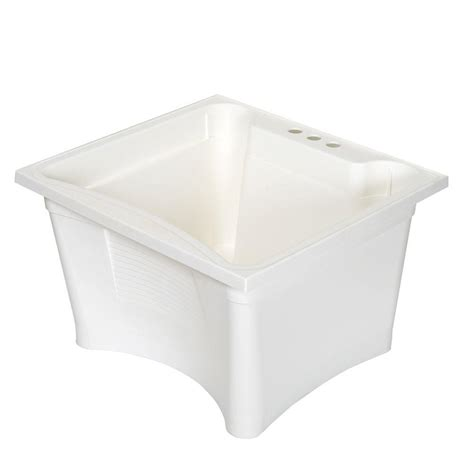 glacier bay laundry tub glacier bay 24 in x 15 6 in x 24 in heavy duty