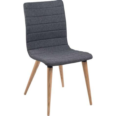 chaise pieds bois chaise scandinave en tissu et bois doris 4 pieds