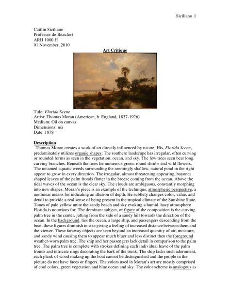 critical analysis  art essay
