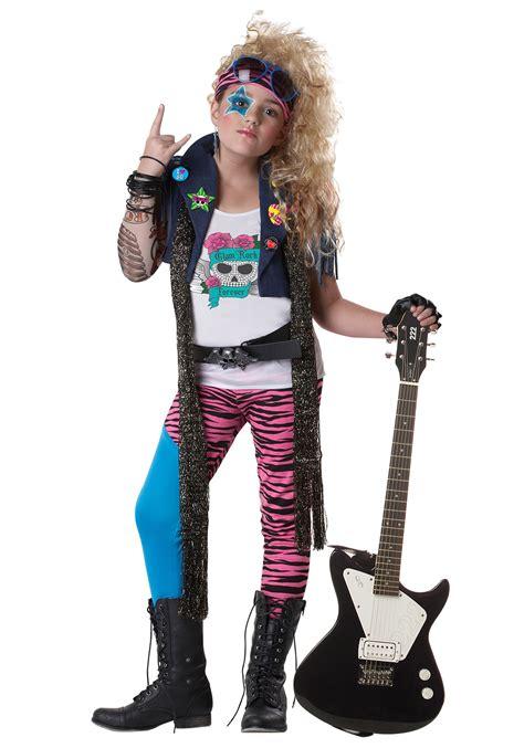 Girls 80s Glam Rocker Costume | eBay