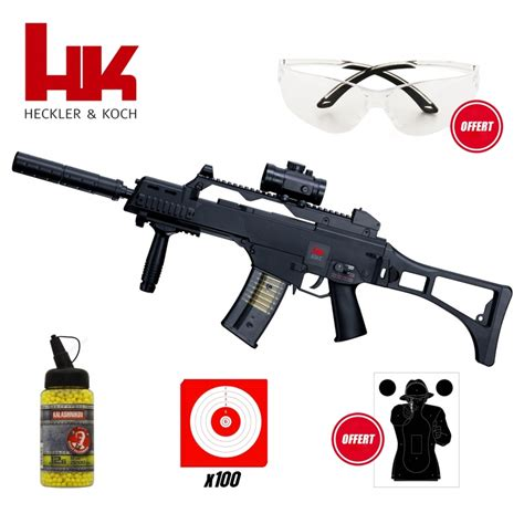 pack airsoft hk   electrique modele police  joules armurerie loisir