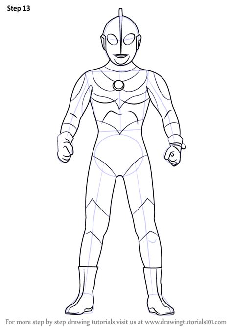 Coloring Ultraman Geed by Learn How To Draw An Ultraman Ultraman Step By Step