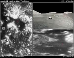 Telescope Photos Moon Landing Site