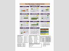 Tulsa Public Schools Finalize Calendar Years Through 2017