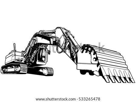 excavator stock vectors images vector art shutterstock