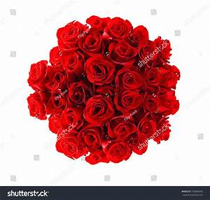Beautiful Red Roses Bouquet Isolated On Stock Photo ...
