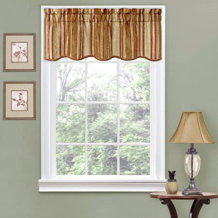 Striped Valances by Traditions By Waverly Stripe Ensemble Scalloped Window